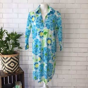 Lilly Pulitzer | Pilar Tunic Blue/White Floral NEW